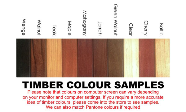 Timber Colour Samples